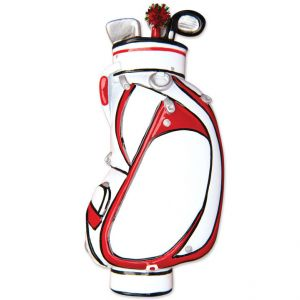 Golf Bag Personalised Christmas Ornament Decoration