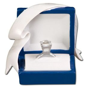 Marry Me! Engagement Ring in Blue Box Personalised Christmas Decoration